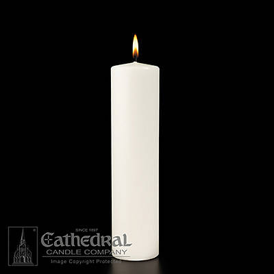 "Picture of Plain White Christ Candle 3"" x 12"""