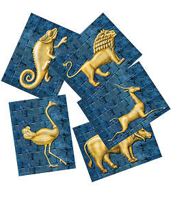 Group Vacation Bible School 2012 Babylon God Sightings Animal Tiles (pkg of 25)