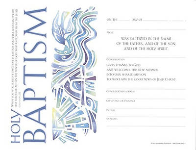 Picture of Community Adult Baptism Certificate
