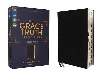 Picture of Niv, the Grace and Truth Study Bible, Large Print, European Bonded Leather, Black, Red Letter, Thumb Indexed, Comfort Print