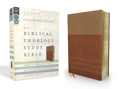 Picture of NIV, Biblical Theology Study Bible, Imitation Leather, Tan/Brown, Indexed, Comfort Print