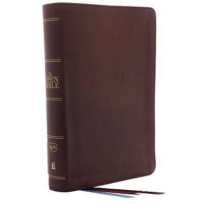 Picture of The Kjv, Open Bible, Genuine Leather, Brown, Red Letter Edition, Comfort Print