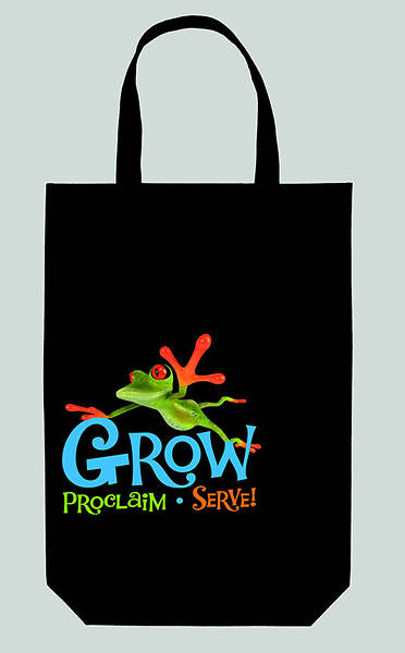 Grow, Proclaim, Serve! Recyclable Bag (Black w/Grow Logo)