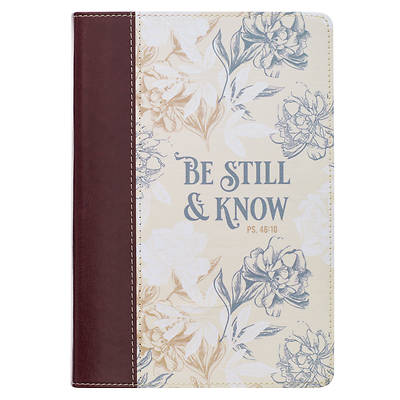 Picture of Journal Classic Be Still Floral Psalm 46