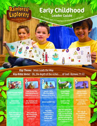 Picture of Vacation Bible School (VBS 2020) Rainforest Explorers Early Childhood Leader Guide