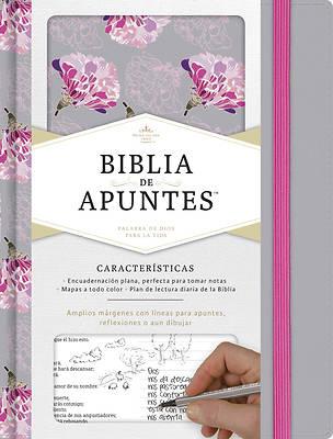 Picture of Rvr 1960 Biblia de Apuntes, Gris y Floreado Tela Impresa
