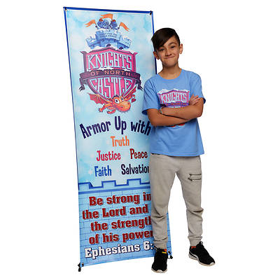 Picture of Vacation Bible School (VBS) 2020 Knights of North Castle Theme Banner and Stand Combo