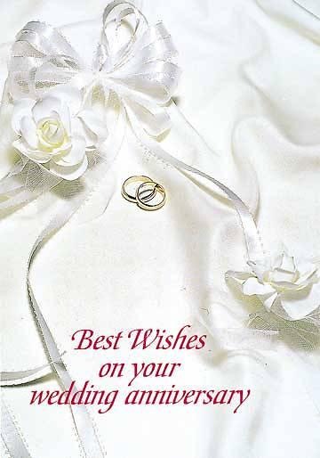 Best Wishes on Your Wedding Anniversary Postcard (Package of 25)