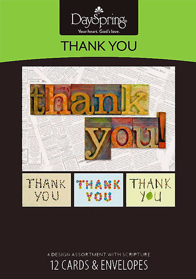 Many Blessings - Thank You Boxed Cards - Box of 12