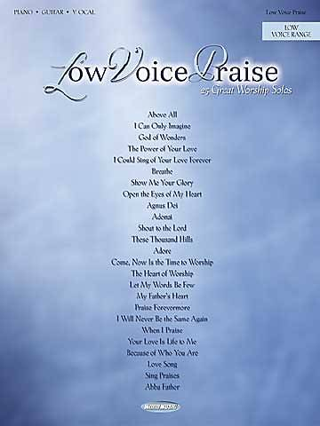 Low Voice Praise Choral Book