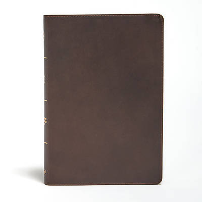Picture of CSB Large Print Ultrathin Reference Bible, Brown Genuine Leather, Black Letter Ed