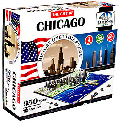 Picture of 4D Chicago Cityscape Time Puzzle