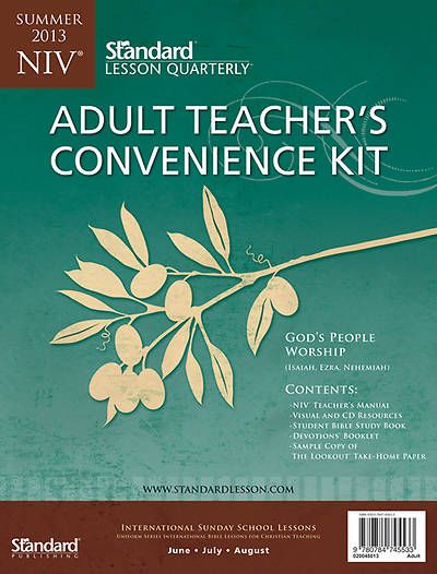 Standard Lesson Quarterly NIV Adult Teachers Convenience Kit Summer 2013