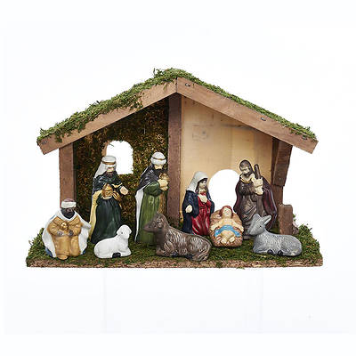 9 PC Nativity Set With Stable