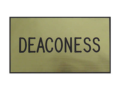 Picture of Gold and Black Deaconess Clip-On Badge