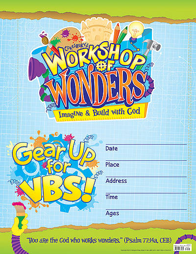 Vacation Bible School (VBS) 2014 Workshop of Wonders Small Promotional Poster