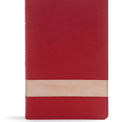 Picture of CSB Large Print Personal Size Reference Bible, Crimson/Tan Leathertouch