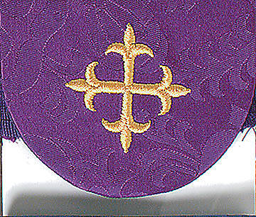 Picture of Purple Pocket Usher Badge with Cross - Package of 4