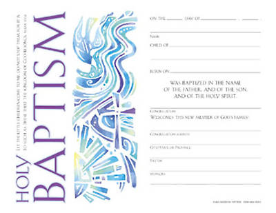Community Child Baptism Certificate (Package of 12)