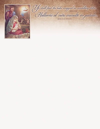 Picture of Shall Find Baby Christmas Letterhead SPANISH