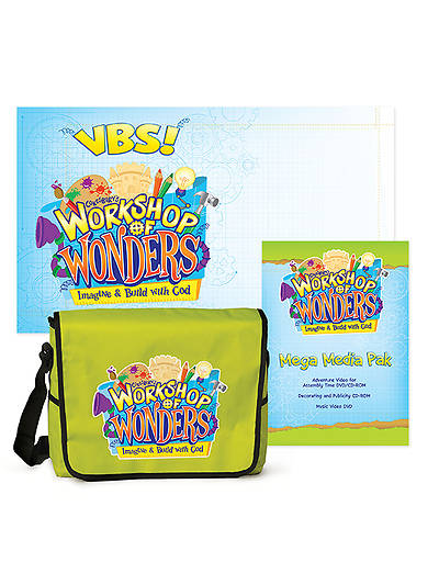 Vacation Bible School (VBS) 2014 Workshop of Wonders Super Starter Kit with Mega Media Pak and Outdoor Banner