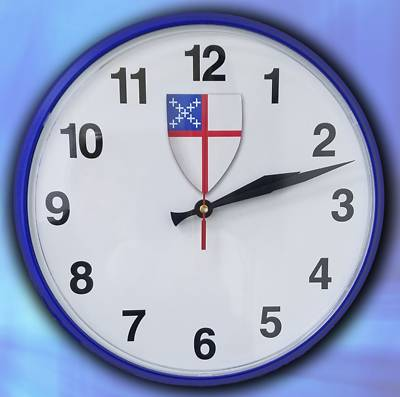 Picture of Wall Clock with Episcopal Shield