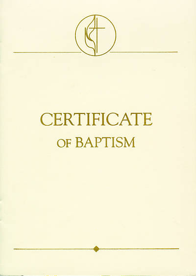 United Methodist Covenant II Child Baptism Certificates (Pkg of 3)