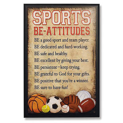 Sports Be-Attitudes Plaque