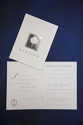 Picture of United Church of Christ Adult Baptism Certificate - Pack of 6
