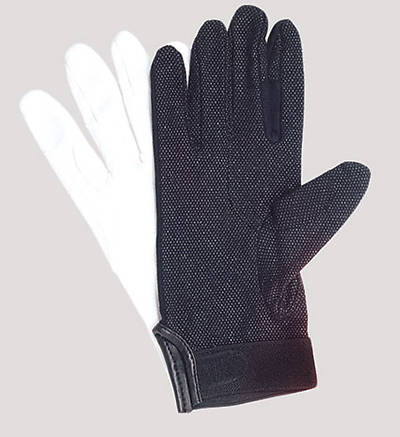 Picture of UltimaGlove With Plastic Dots Handbell Gloves - Black, Medium