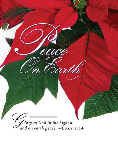 Christmas Poinsettia/Peace on Earth Bulletin 2011, Large (Package of 50)