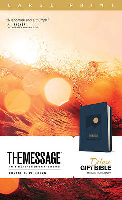 Picture of The Message Deluxe Gift Bible, Large Print (Leather-Look, Navy)