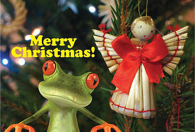 Merry Christmas Frog Postcard (Pkg of 25)