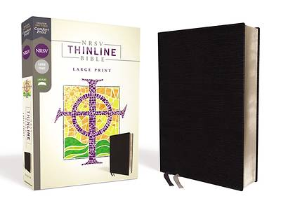Picture of NRSV Thinline Bible, Large Print, Bonded Leather, Black, Comfort Print