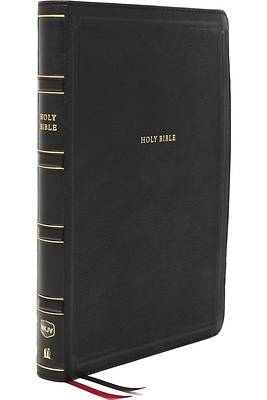 Picture of Nkjv, Deluxe Reference Bible, Center-Column Giant Print, Leathersoft, Black, Red Letter Edition, Thumb Indexed, Comfort Print