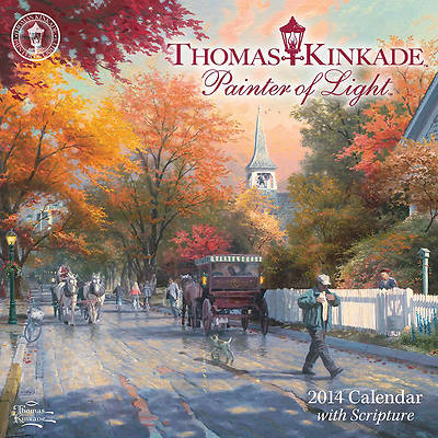 Thomas Kinkade Painter of Light with Scripture Mini Wall Calendar 2014