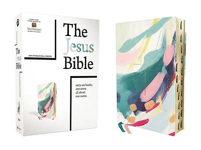 Picture of The Jesus Bible Artist Edition, Niv, Leathersoft, Multi-Color/Teal, Thumb Indexed, Comfort Print