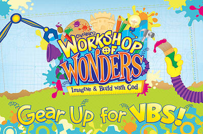 Vacation Bible School (VBS) 2014 Workshop of Wonders Invitation Postcards (Pkg of 25)