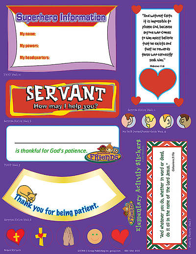 Picture of FaithWeaver Friends Elementary Activity Stickers (pkg 5) Fall 2015