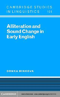 Alliteration and Sound Change in Early English [Adobe Ebook]