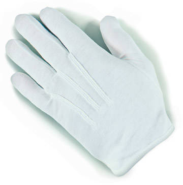 Plastic Dot Handbell White Small Gloves