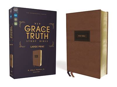 Picture of Niv, the Grace and Truth Study Bible, Large Print, Leathersoft, Brown, Red Letter, Comfort Print