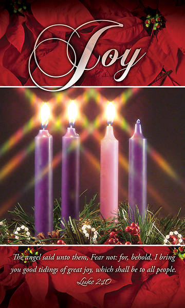 Picture of Joy Advent Wreath 3' X 5' Fabric Banner