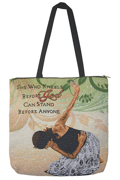 She Who Kneels Before God And Stand Before Anyone Tote Bag