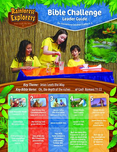Picture of Vacation Bible School VBS 2021 Rainforest Explorers Bible Challenge Leader Guide