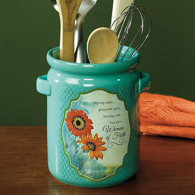 Woman of Faith Crock Style Canister