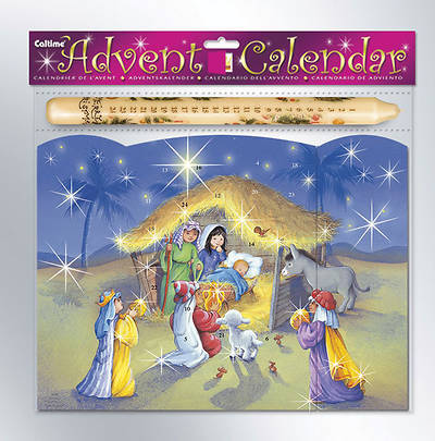 The Manger Advent Calendar with Advent Candle and Glitter #CA705