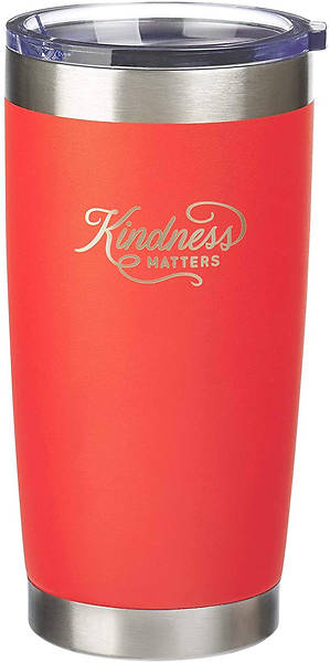 Picture of Kindness Matters Orange Travel Mug with Lid