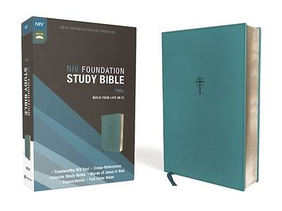 Picture of Niv, Foundation Study Bible, Leathersoft, Teal, Red Letter