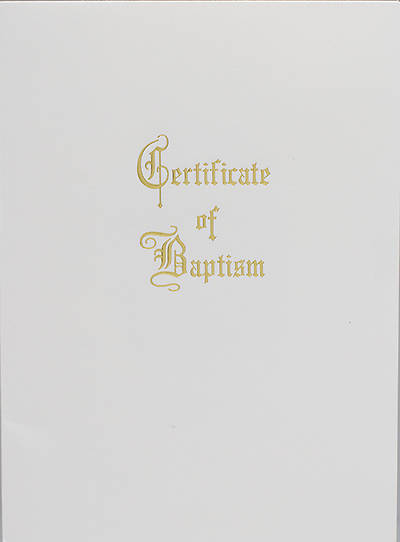 Traditional Steel-Engraved Youth/Adult Baptism Certificate